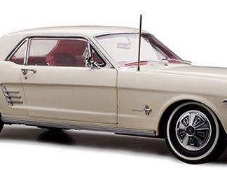 Ford Mustang Pony 1966 in Wimbledon White with Red Interior