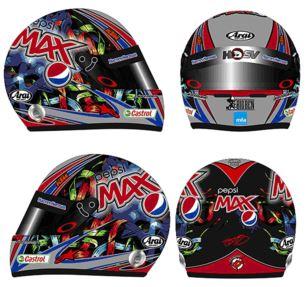 Greg Murphy Pepsi Max Mini Helmet