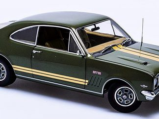 Holden HT Monaro GTS350 in Verdoro Green with Gold Stripes and Antique Gold Interior.