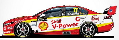 *Shell V-Power Racing Team Ford FGX Falcon - 2018 Virgin Australia Supercars Championship Season - #17 Scott McLaughlin