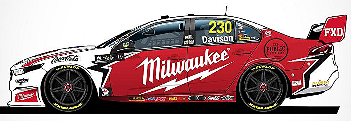 Red Racing Milwaukee Ford Fgx Falcon 2018 Virgin Australia